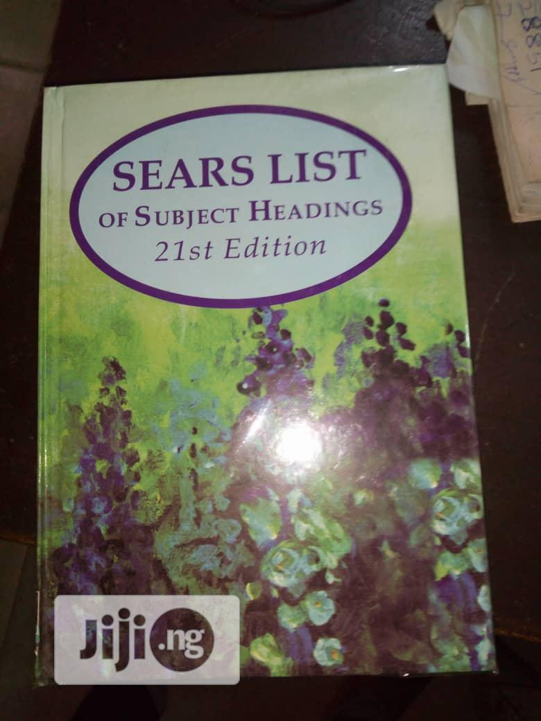Sears List of Subject Heading's