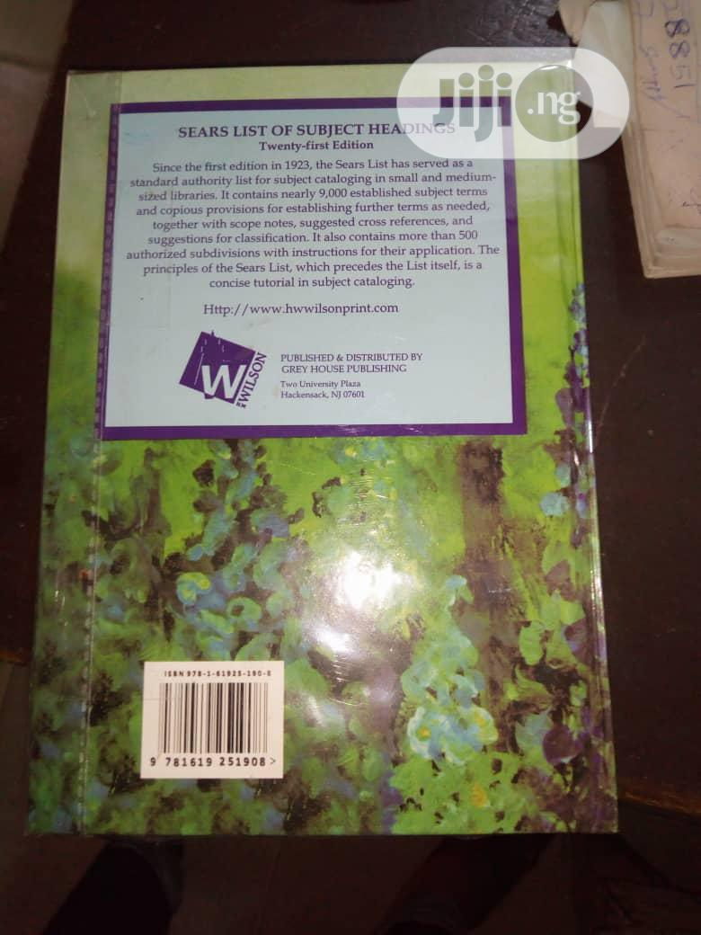 Sears List of Subject Heading's | Books & Games for sale in Surulere, Lagos State, Nigeria