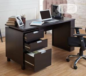 Executive Coffee Brown Office Table With Drawers   Furniture for sale in Lagos State, Victoria Island