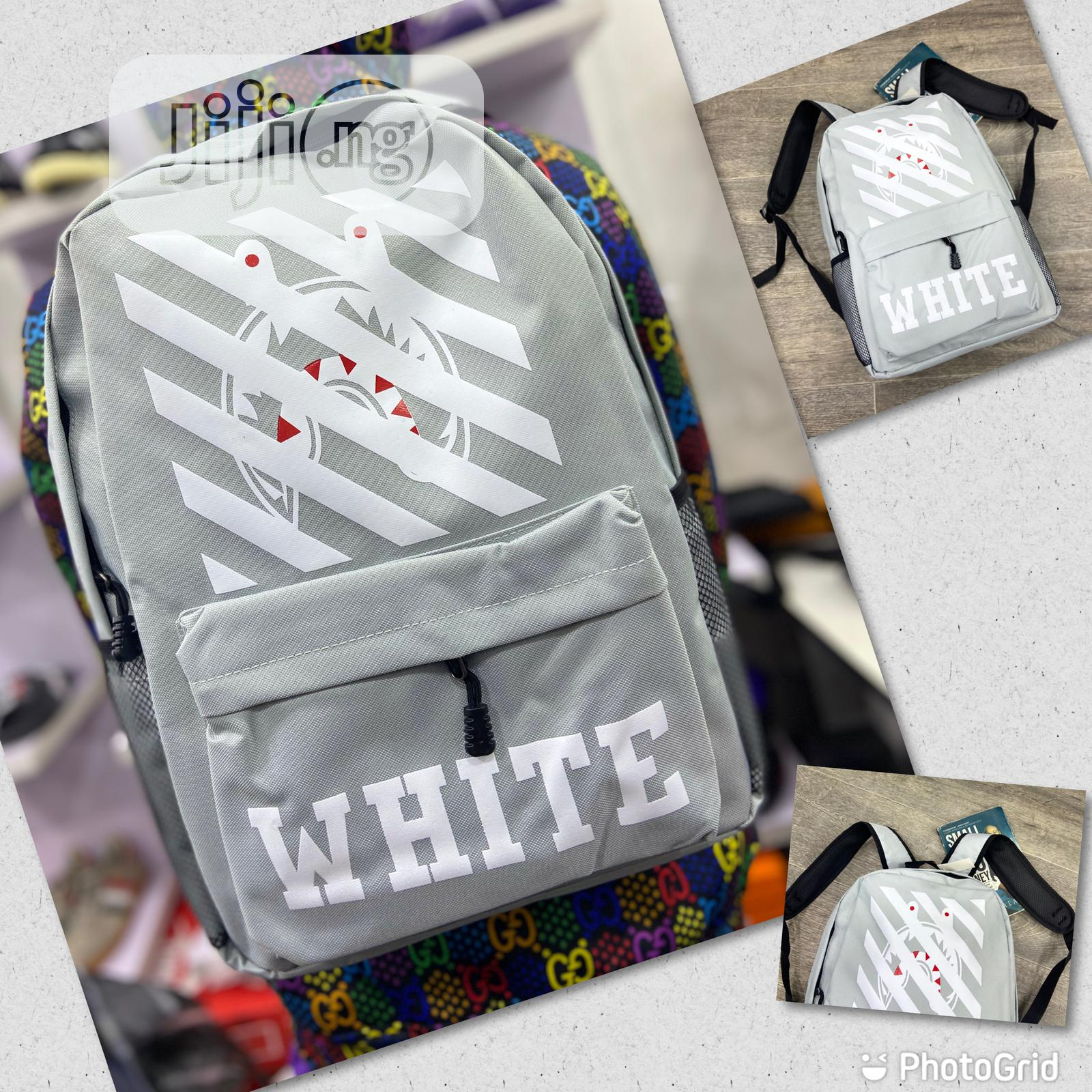 Off-White Back Pack Available as Seen