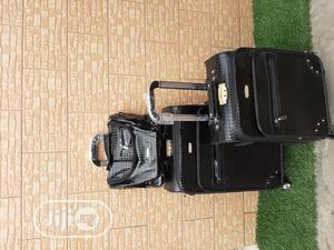 Black Leather Trolley Travel Bags (Luggage) | Bags for sale in Lagos State, Ikeja