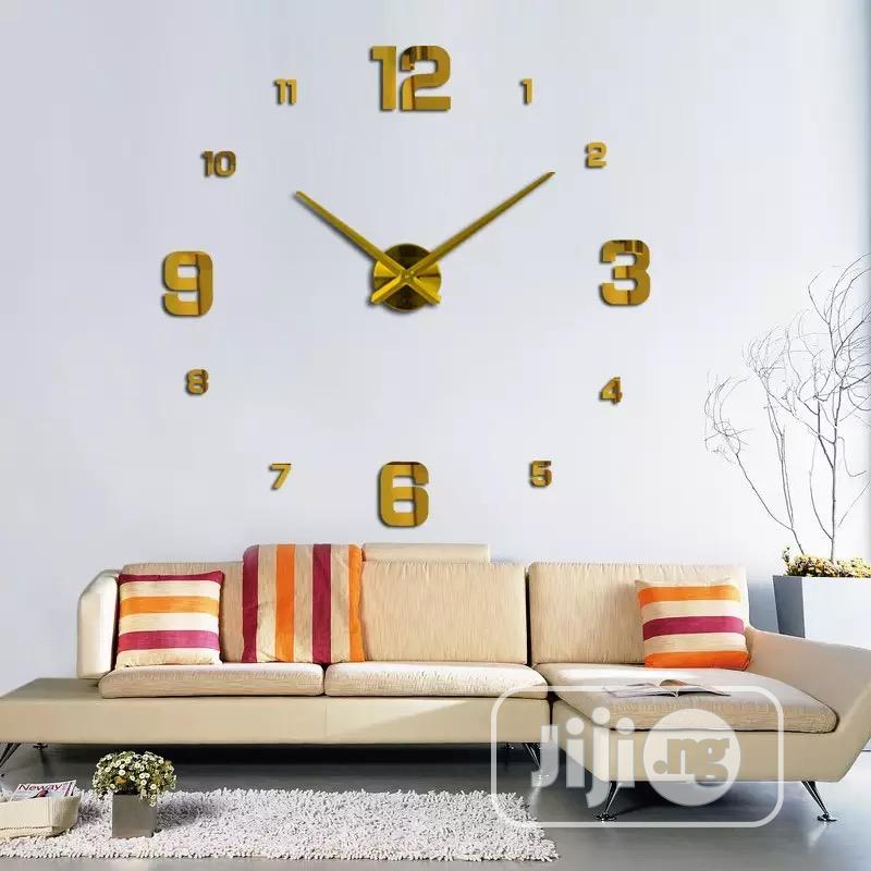 Decorative 3D Large Wall Clock | Home Accessories for sale in Surulere, Lagos State, Nigeria