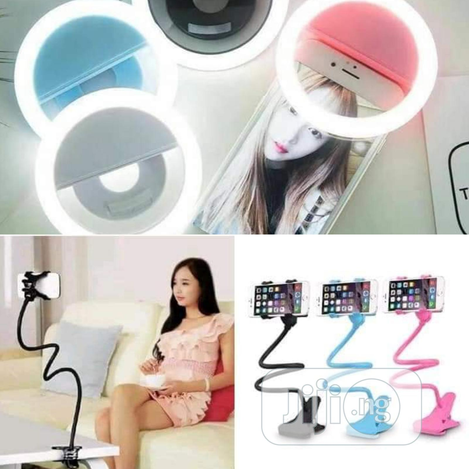 Rechargeable Selfie Led Ring Light For Smartphone | Accessories & Supplies for Electronics for sale in Alimosho, Lagos State, Nigeria
