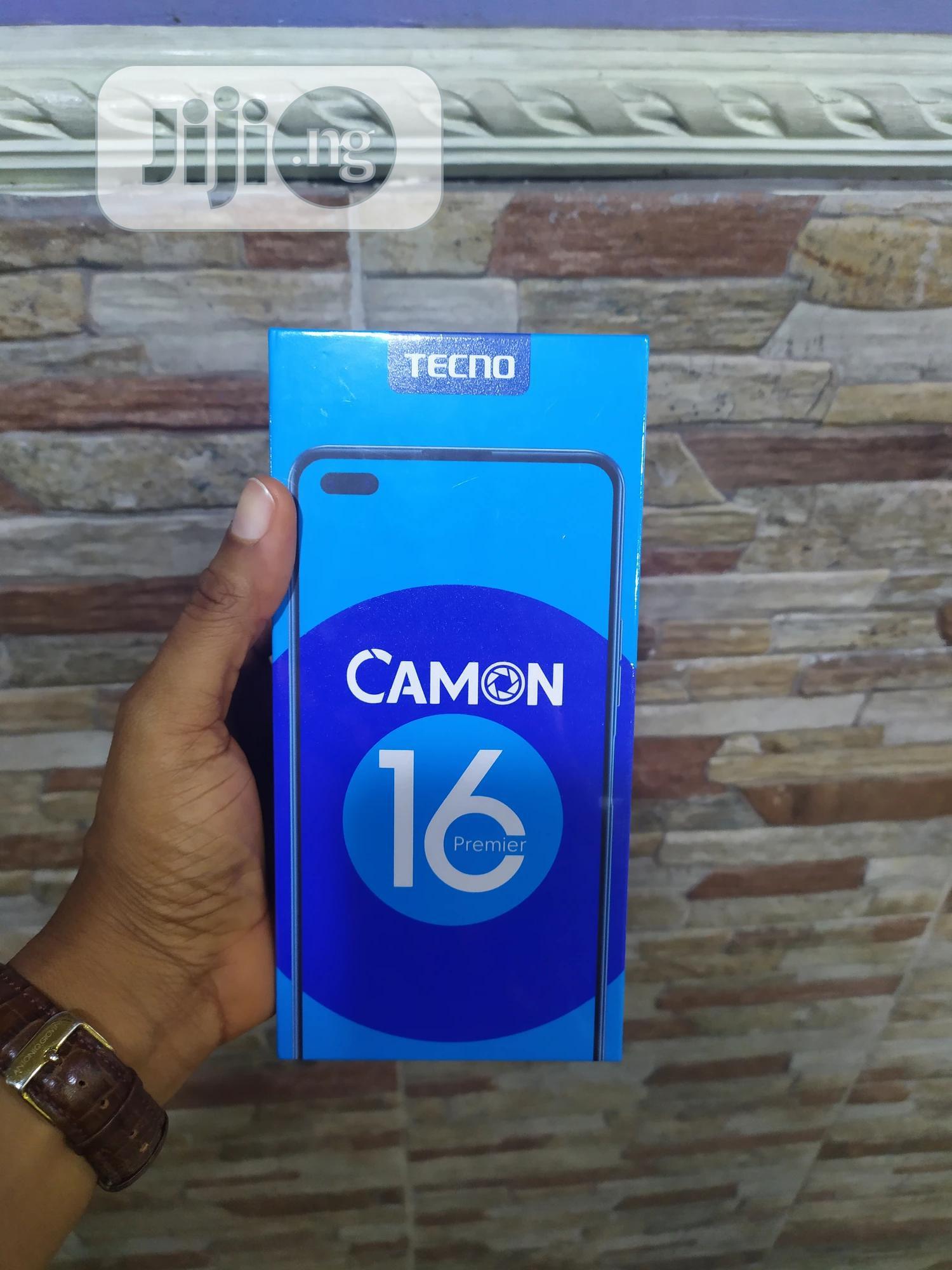 New Tecno Camon 16 Premier 128GB Blue   Mobile Phones for sale in Victoria Island, Lagos State, Nigeria