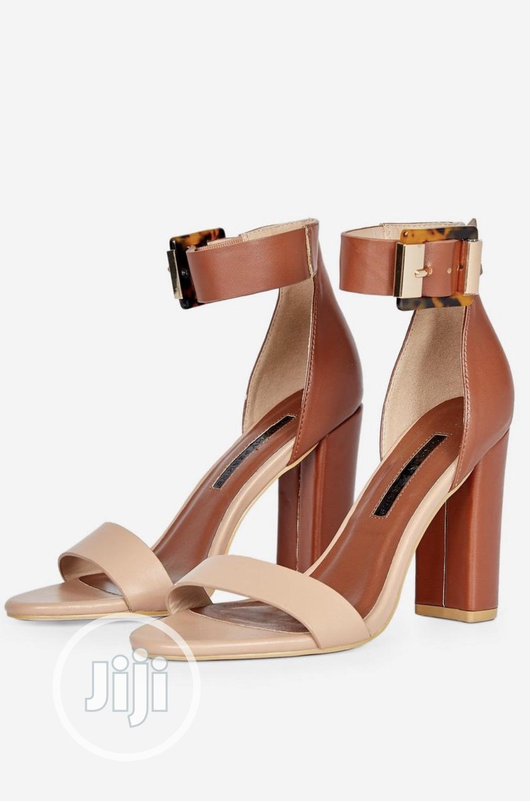 Nude and Brown Sandal | Shoes for sale in Lekki, Lagos State, Nigeria