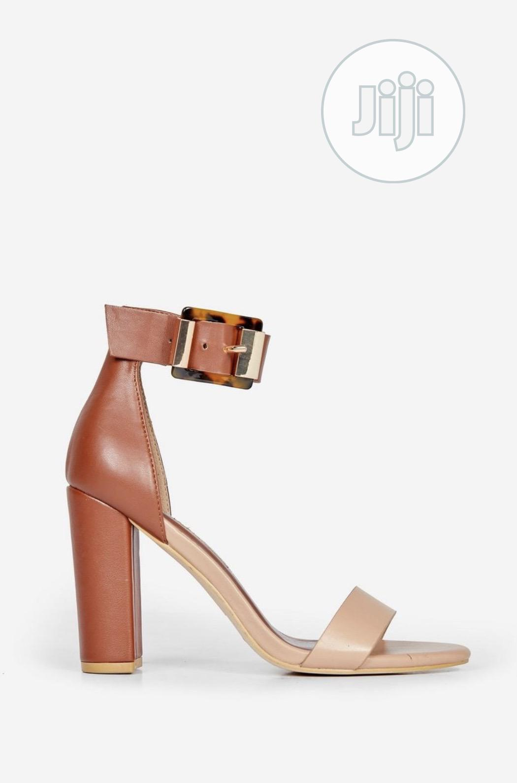 Nude and Brown Sandal