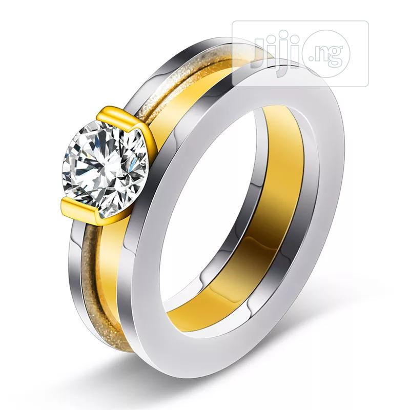 Bow Stainless Steel Wedding Ring