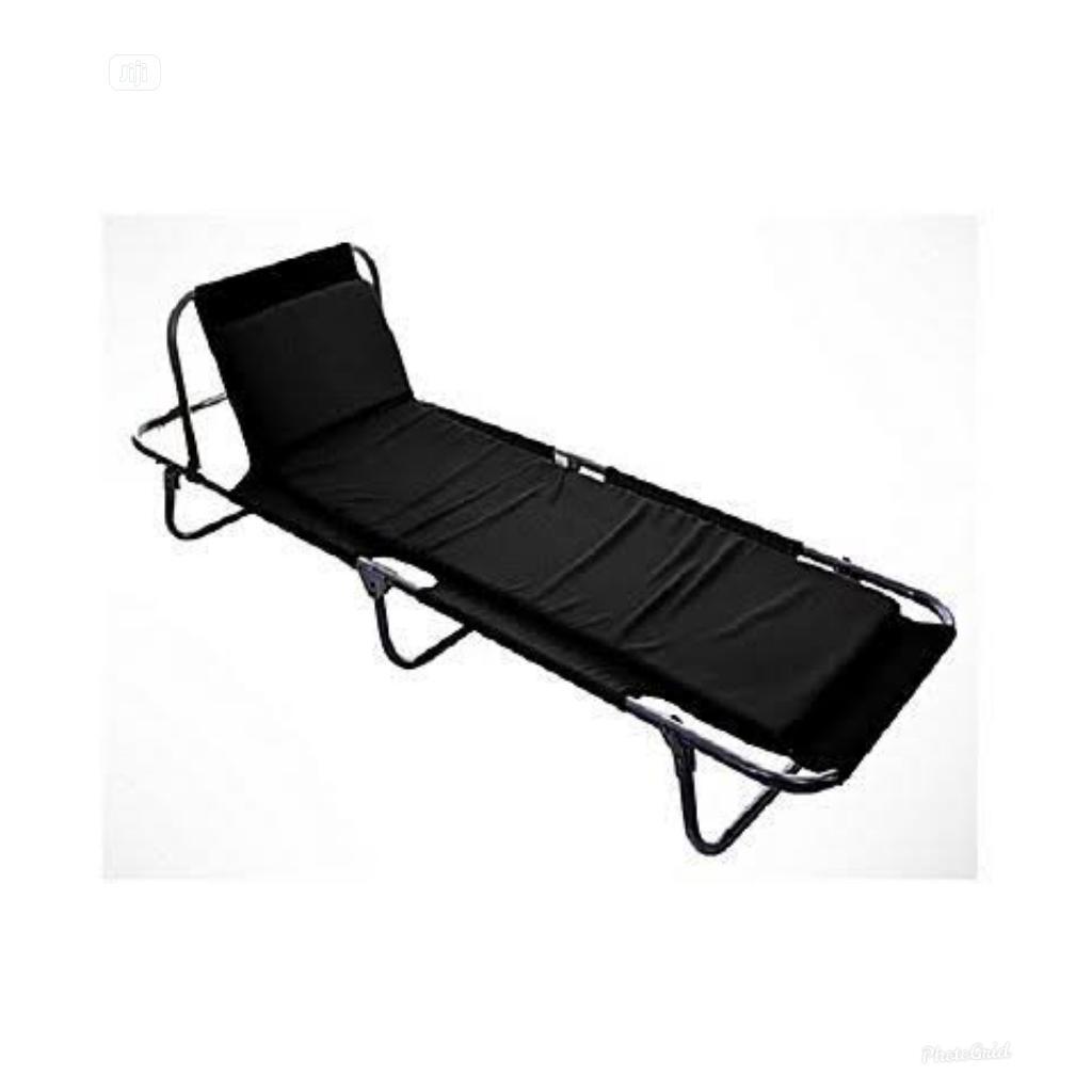 Big Size Camp Bed Foldable (Black)