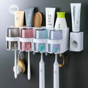 Toothbrush Holder And Toothpaste Dispenser | Home Accessories for sale in Lagos State, Ipaja