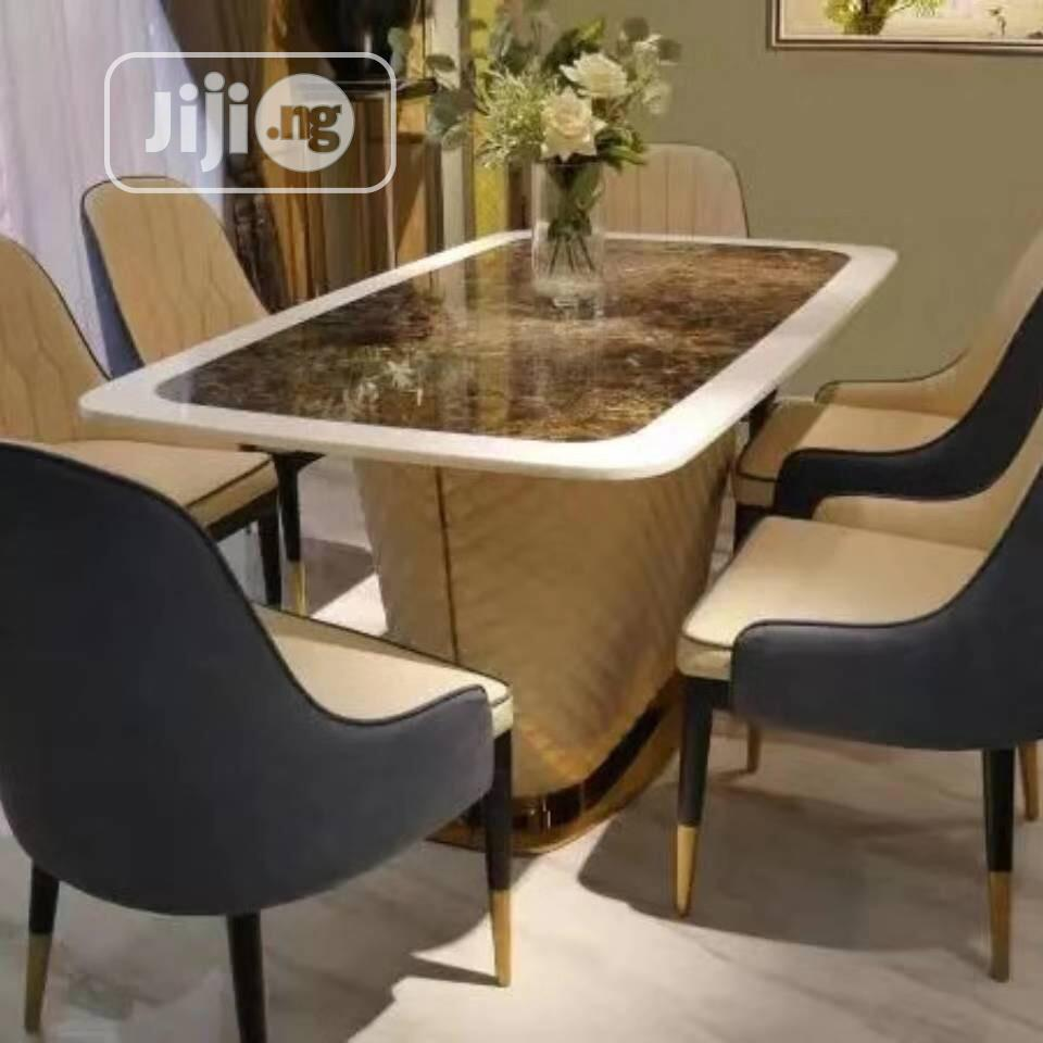 New Design High Quality Marble Dining Table 6 Seater In Lekki Furniture Great Access Furniture Jiji Ng
