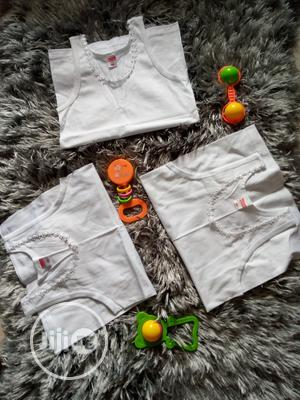 Girls White Singlet | Children's Clothing for sale in Lagos State, Amuwo-Odofin