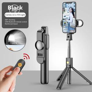 New Portable 3 IN 1 Wirleless Bluetooth Mini Selfie Stick | Accessories for Mobile Phones & Tablets for sale in Lagos State, Alimosho