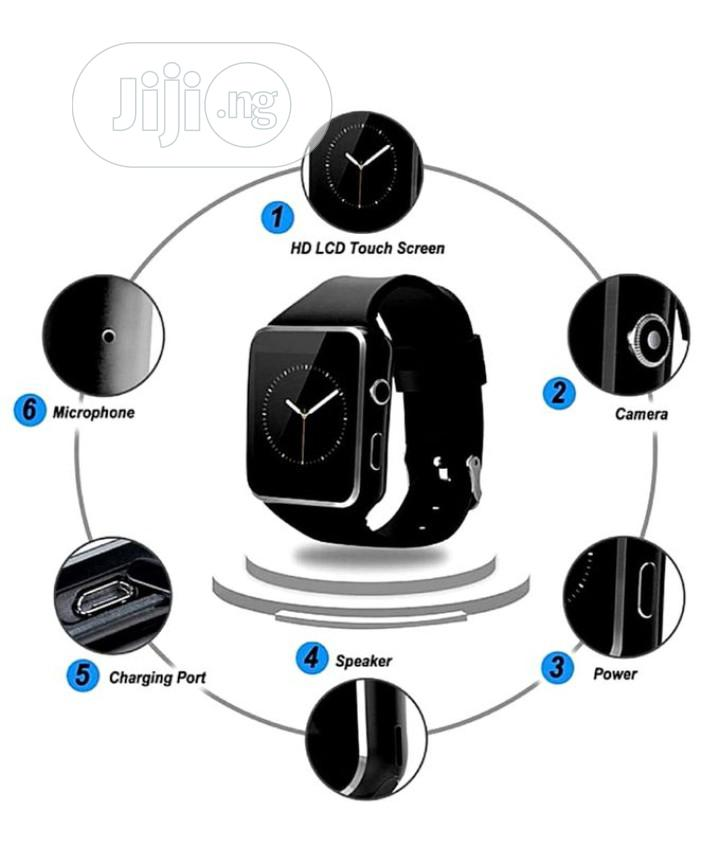 X6 Smart Watch Phone With Sim Slot | Smart Watches & Trackers for sale in Ilupeju, Lagos State, Nigeria
