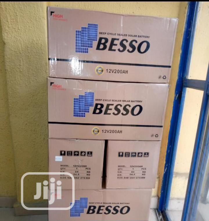 12v 200ah Besso Solar Battery