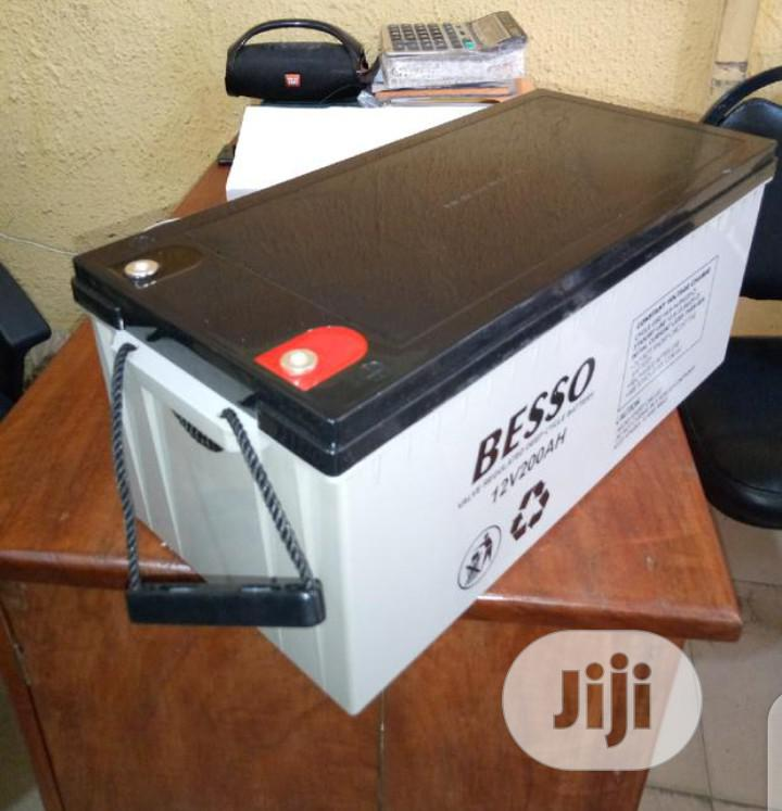 12v 200ah Besso Solar Battery | Solar Energy for sale in Ojo, Lagos State, Nigeria