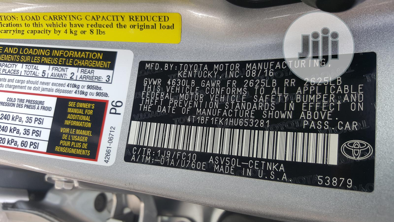 Toyota Camry 2017 Silver | Cars for sale in Ikoyi, Lagos State, Nigeria