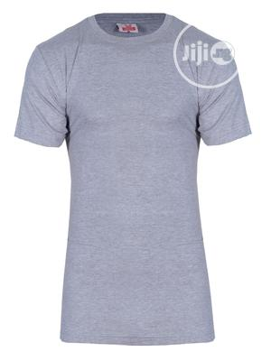 Kanin Plain Grey Round Neck T-shirt   Clothing for sale in Lagos State, Surulere