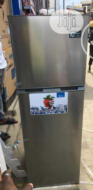 Brand New Midea Double Door Refrigerator 300L Silver | Kitchen Appliances for sale in Lagos State, Ojo