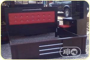 6 by 6 Bed With Side Cabinet and Dressing Mirror | Furniture for sale in Lagos State, Ikeja
