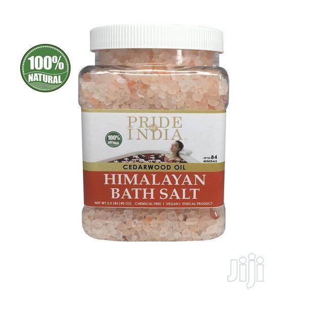 Pride Of India Himalayan Pink Bathing Salt W/Cedarwood Oil 2