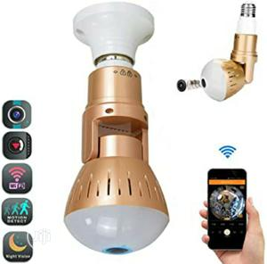 Bulb Camera Wifi 1080p 360 Degree Panoramic Night Vision   Security & Surveillance for sale in Lagos State, Ikeja