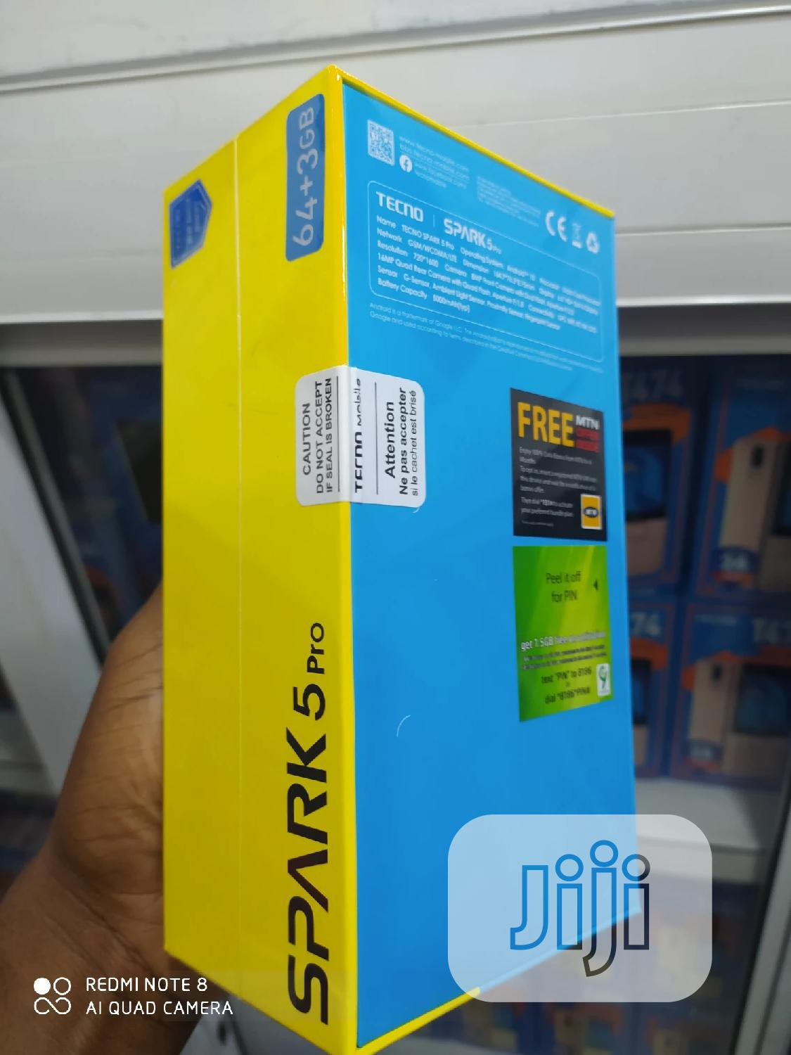 New Tecno Spark 5 Pro 64 GB Gray | Mobile Phones for sale in Ikeja, Lagos State, Nigeria