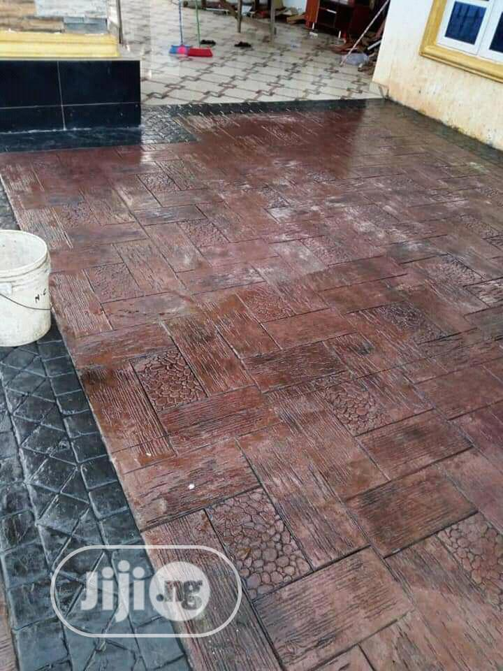Concrete Stamped Floor Designs/ General House Construction   Building & Trades Services for sale in Central Business Dis, Abuja (FCT) State, Nigeria