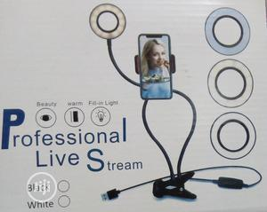 Selfie Ringlight With Phonehold Stand For Livestream/Makeup   Accessories & Supplies for Electronics for sale in Lagos State, Amuwo-Odofin