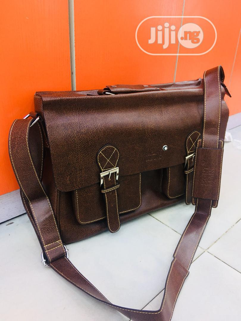 Montblanc Leather Bag For Men's