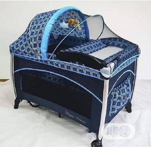 Happy Winners Baby Foldable Trend Yard Bed Cot With Canopy | Children's Furniture for sale in Lagos State, Ajah
