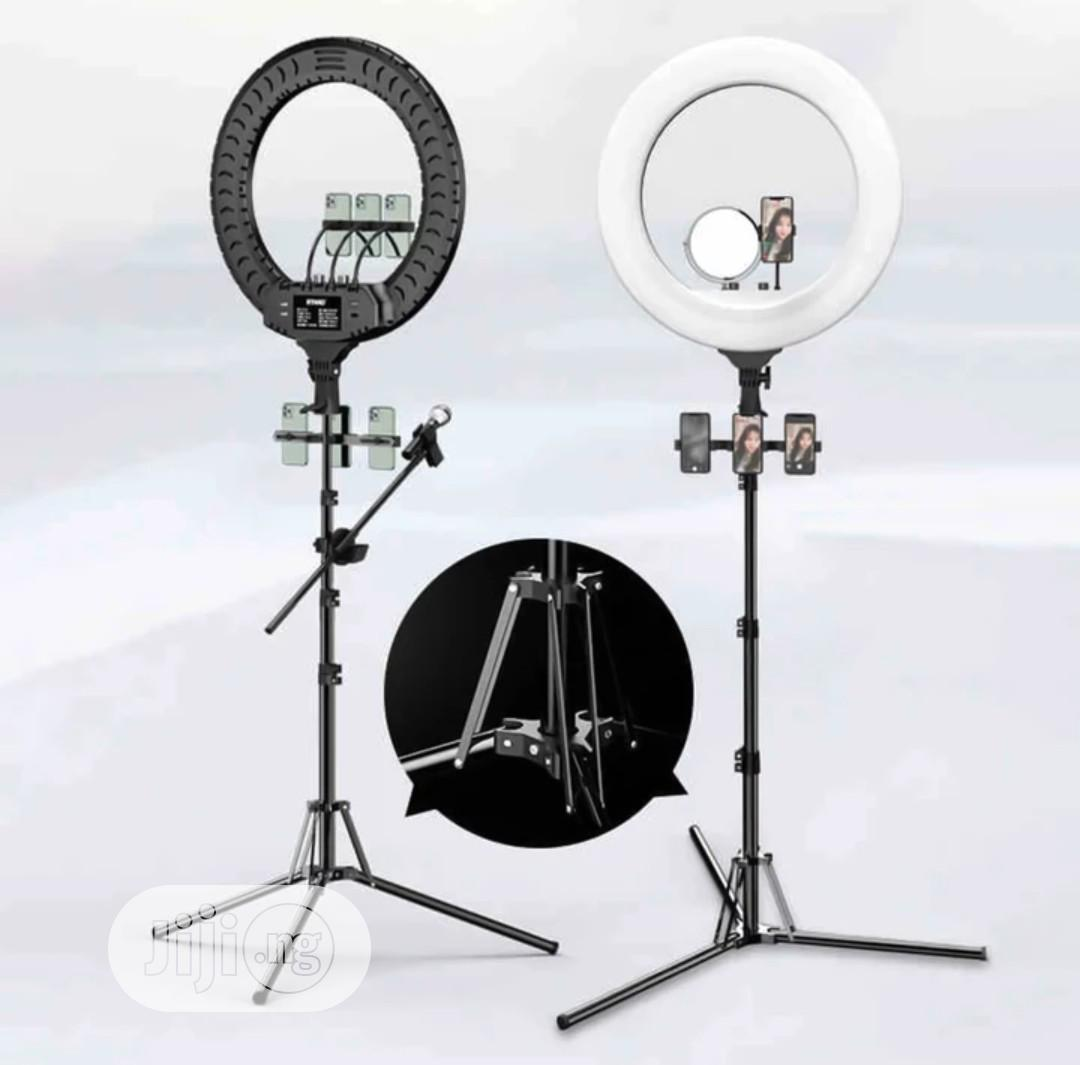 18inchs Ring Light With 3 Phone Holder And Tripod