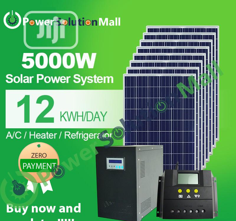 5kva SOLAR Installation (With Pay Later Option)