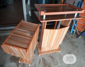 Super Quality Wooden Pulpit Stand With Offering Box   Furniture for sale in Lagos State, Ojo