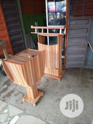 Super Quality Wooden Pulpit Stand With Offering Box | Furniture for sale in Abia State, Umuahia