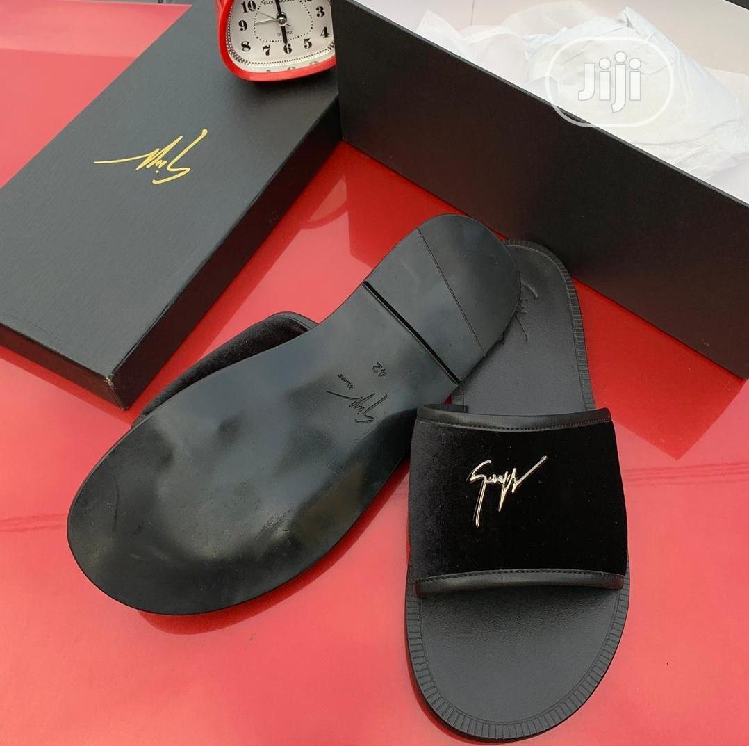Giuseppe Zanotti Flat Palm Slippers in