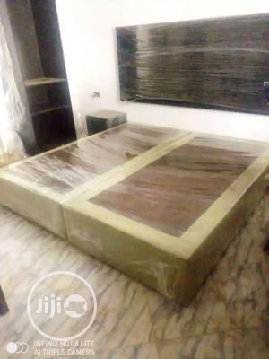 6x6 Bedroom Bedframe(Parded Floor +Separate Headboard)   Furniture for sale in Lagos State, Surulere