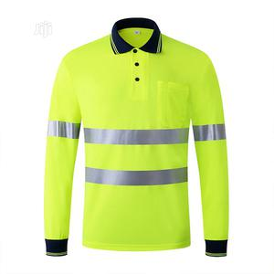 Reflective Long Sleeve Polo (Lemon Color) | Safetywear & Equipment for sale in Lagos State, Ikeja