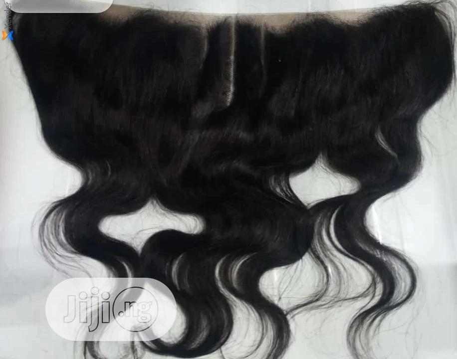 Human Hair Frontal Unit