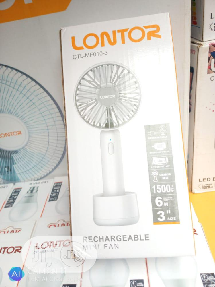 Lontor Rechargeable Mini Fan | Home Appliances for sale in Ojo, Lagos State, Nigeria