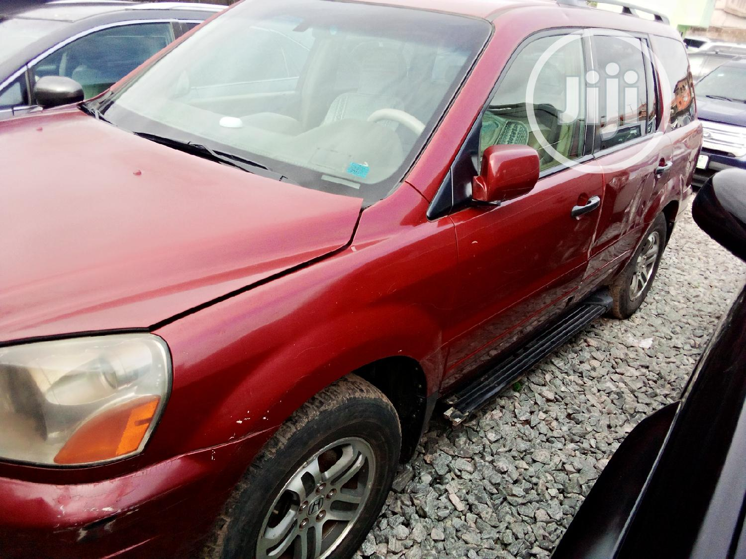 Honda Pilot 2004 Red   Cars for sale in Agege, Lagos State, Nigeria