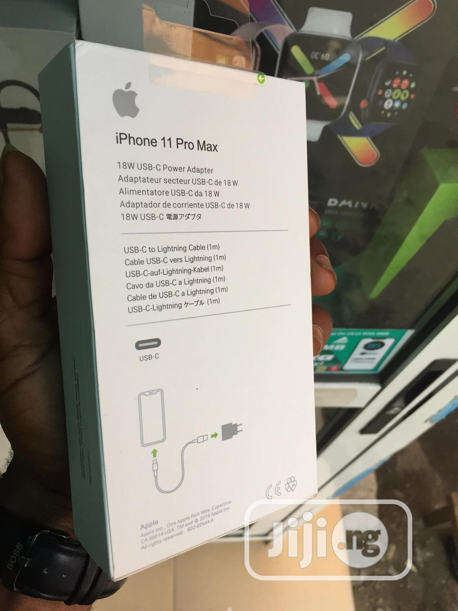 iPhone 11 Pro MAX Charger 18W USB T-C Power Adapter | Accessories for Mobile Phones & Tablets for sale in Ikeja, Lagos State, Nigeria