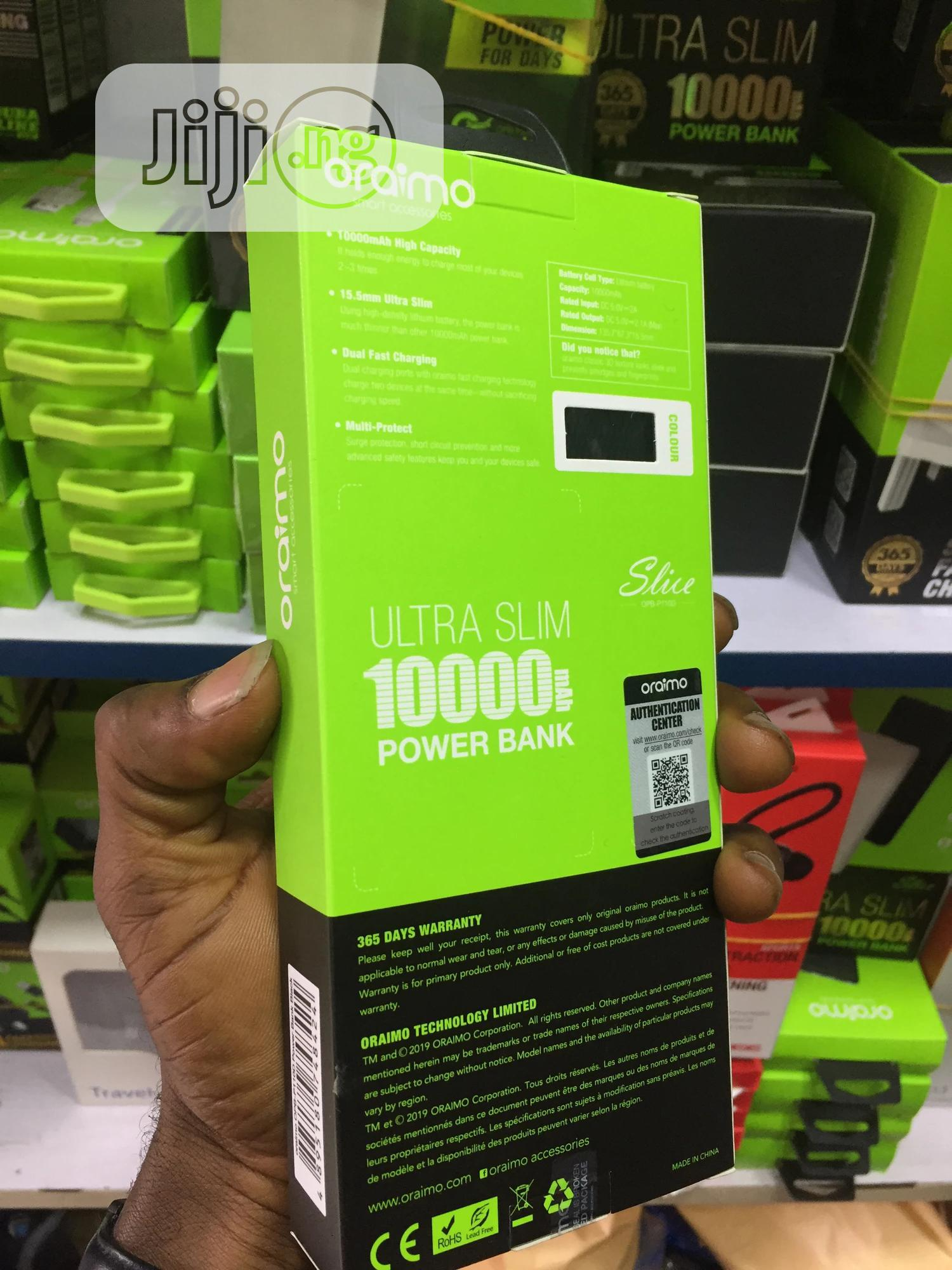 Oraimo 10000mah | Accessories for Mobile Phones & Tablets for sale in Ikeja, Lagos State, Nigeria