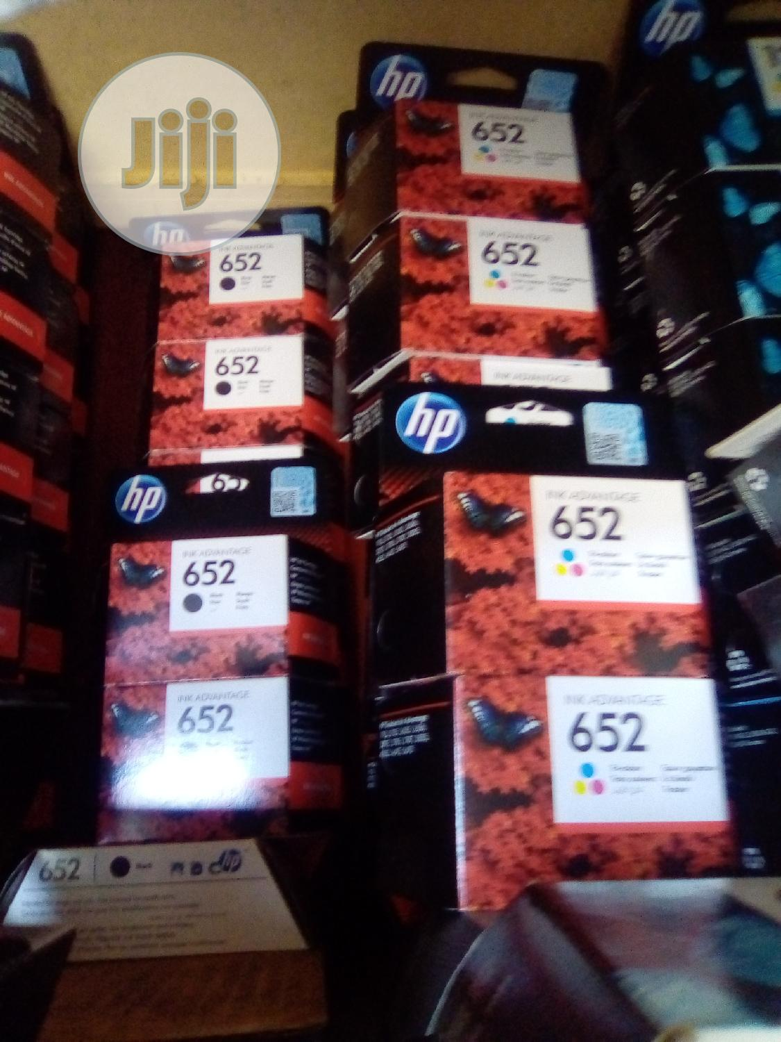 HP 652 Black And Color Ink Jet