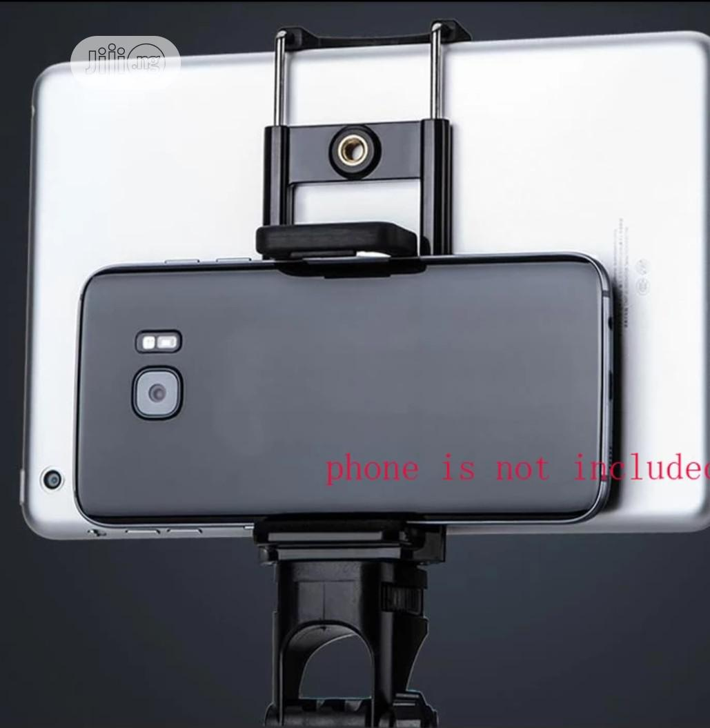 2 In 1 Universal Phone Tripod Holder Stand Mount For Tablet | Accessories for Mobile Phones & Tablets for sale in Ojo, Lagos State, Nigeria