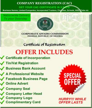 CAC Company Registration PROMO With Special Offers | Legal Services for sale in Lagos State, Ikeja