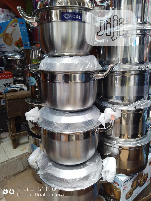 4pieces G L Stainless Steel Pots Set