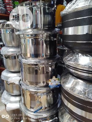 Original Stainless Cookware With Metal Lid 5pcs | Kitchen & Dining for sale in Lagos State, Lagos Island (Eko)