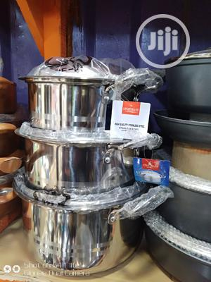 High Quality Stainless Steel Cookware (3units) | Kitchen & Dining for sale in Lagos State, Lagos Island (Eko)