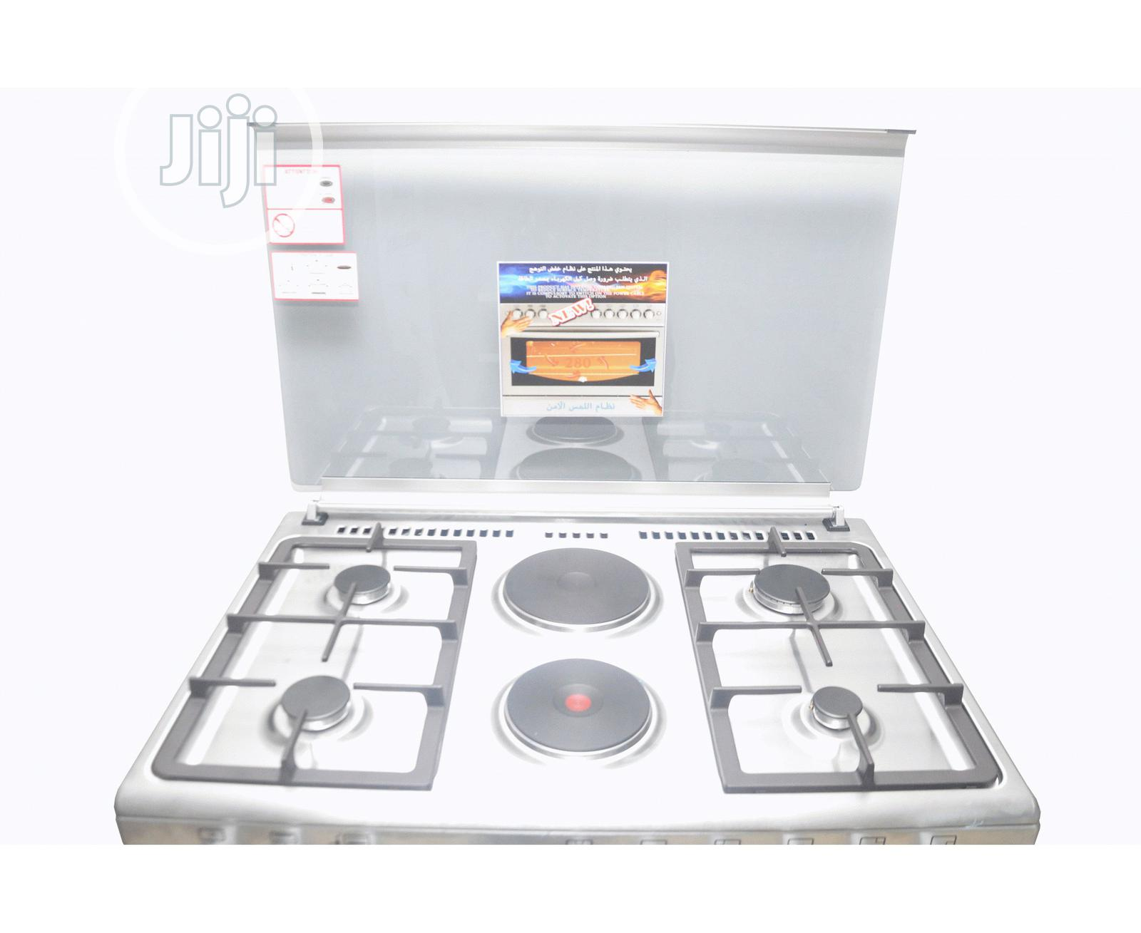 MAXI 4+2 Gas Cooker 60 * 90 PLUS INOX -O18 | Kitchen Appliances for sale in Alimosho, Lagos State, Nigeria