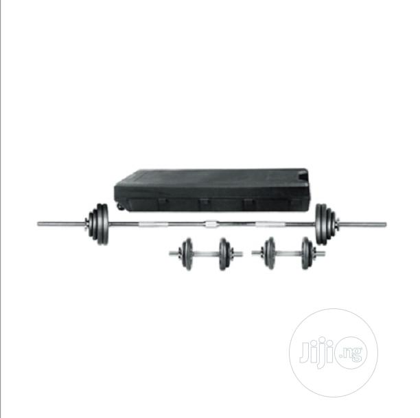 50kg Grey Hammer Tone Cast Iron Dumbbell Set